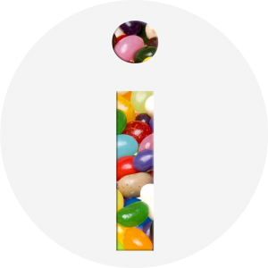 Candy Information icon gray bckgd