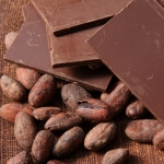 chocolate bars and cacao beans