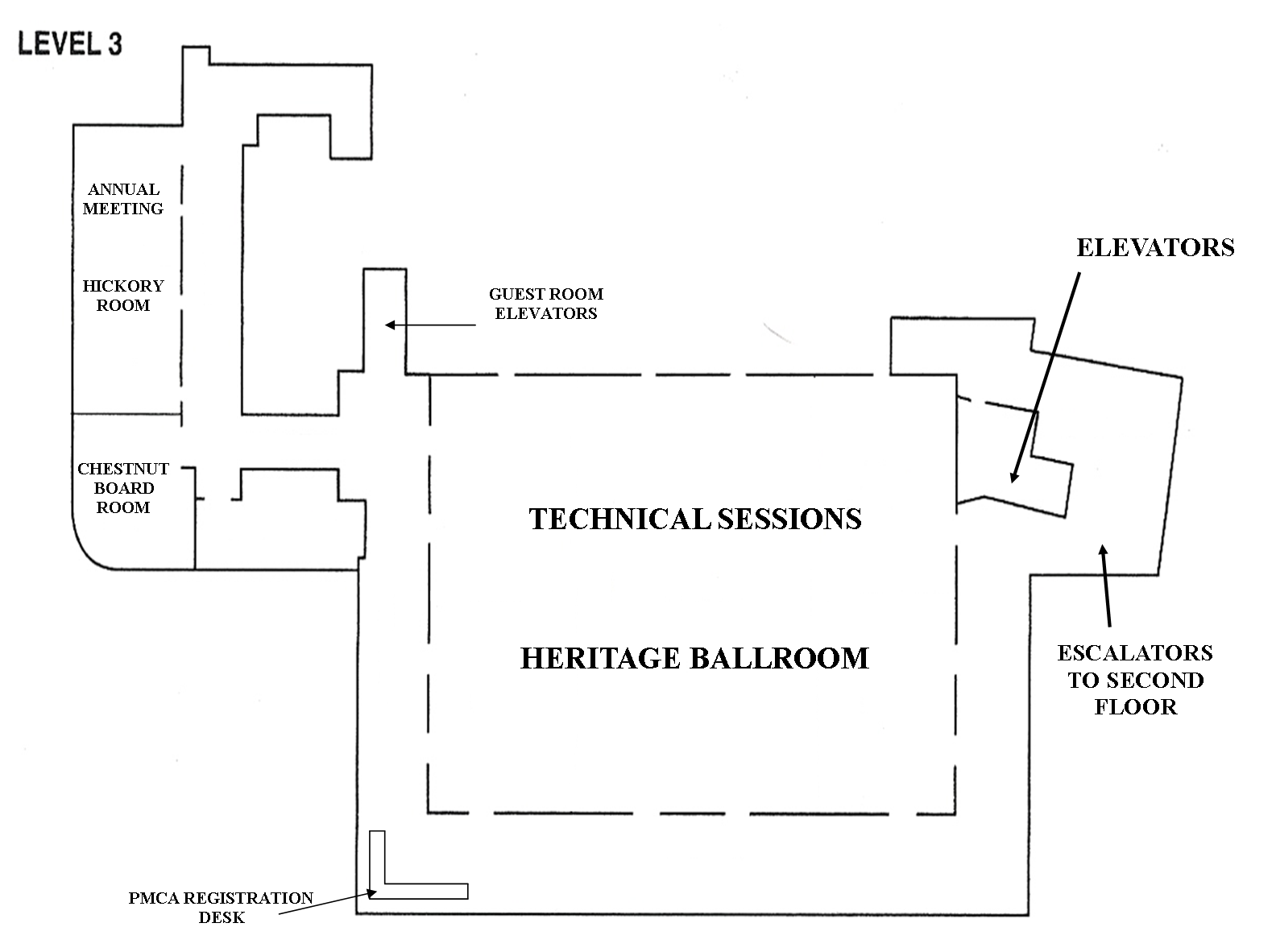 Conference exhibit floor plans pmca conference floor plan level 3 publicscrutiny Choice Image