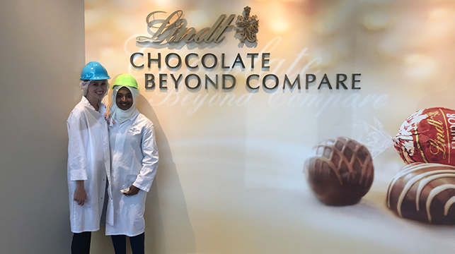 Students at Lindt