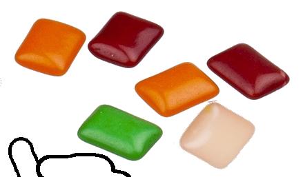 gum pieces